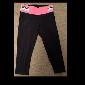 Victoria Secret Pink Yoga Capri Pants Size Small